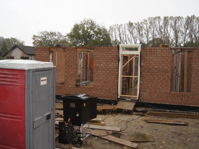 Toiletten voor bouw